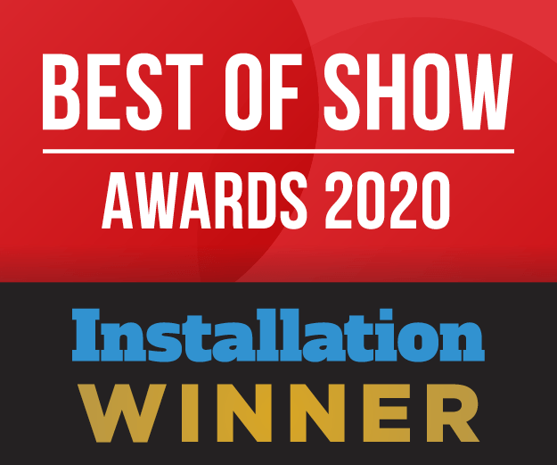 Installation's Best of Show Award at ISE 2020