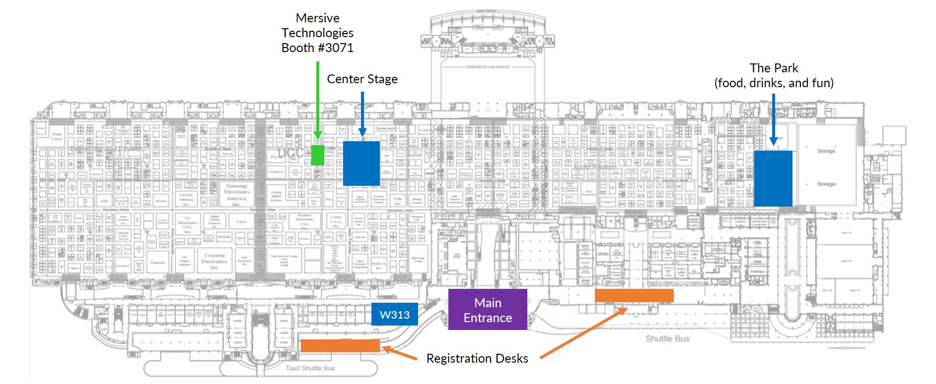 InfoComm2017 Floorplan with Mersive and Center Stage