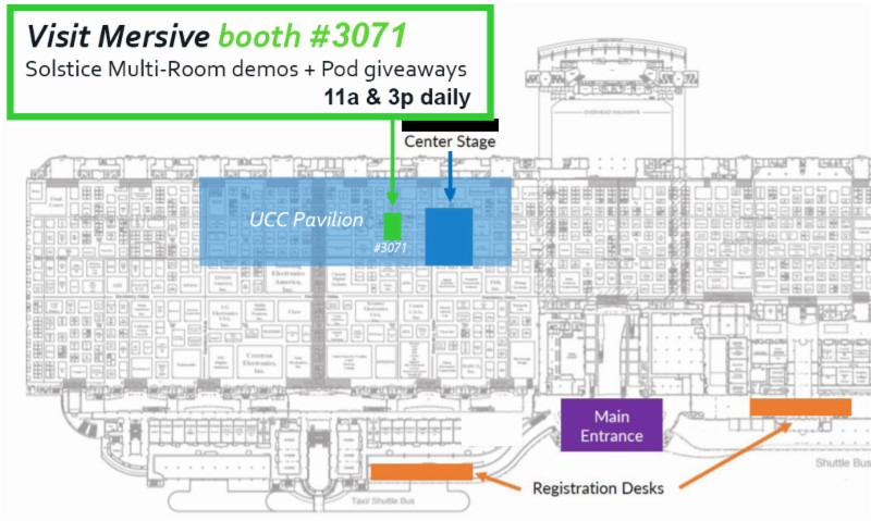 InfoComm 2017 Floorplan with Mersive Highlighted